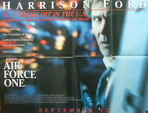 Details About Harrison Ford Air Force One 1997 Original Uk Quad Advance Cinema Poster