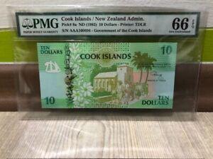 COOK-ISLAND-10-DOLLARS-1992year-AAA-PREFIX-PMG-66-EPQ