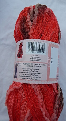 Patons Pirouette Ruffle Scarf Yarn w//Sequins in Harvest Red NWT /& No Smoking Hm