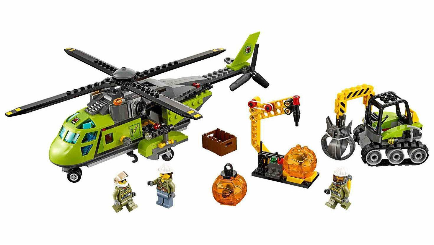 LEGO 60123 Elicottero dei rifornimenti  Vulcano  - CITY 7-12 Pz 330