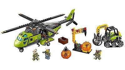 """Lego 60123 Elicottero Dei Rifornimenti """"vulcano"""" - City 7-12 Pz 330 Prezzo Ragionevole"""