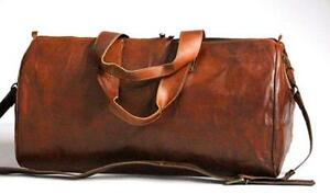Large-Vintage-Men-Real-Prime-Quality-Leather-Tote-Luggage-Bag-Travel-Duffle-Gym