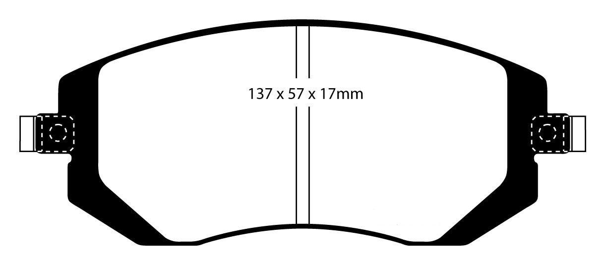 EBC verdestuff Sport balatas balatas balatas eje delantero dp21661 para Subaru Impreza 3 9432d4