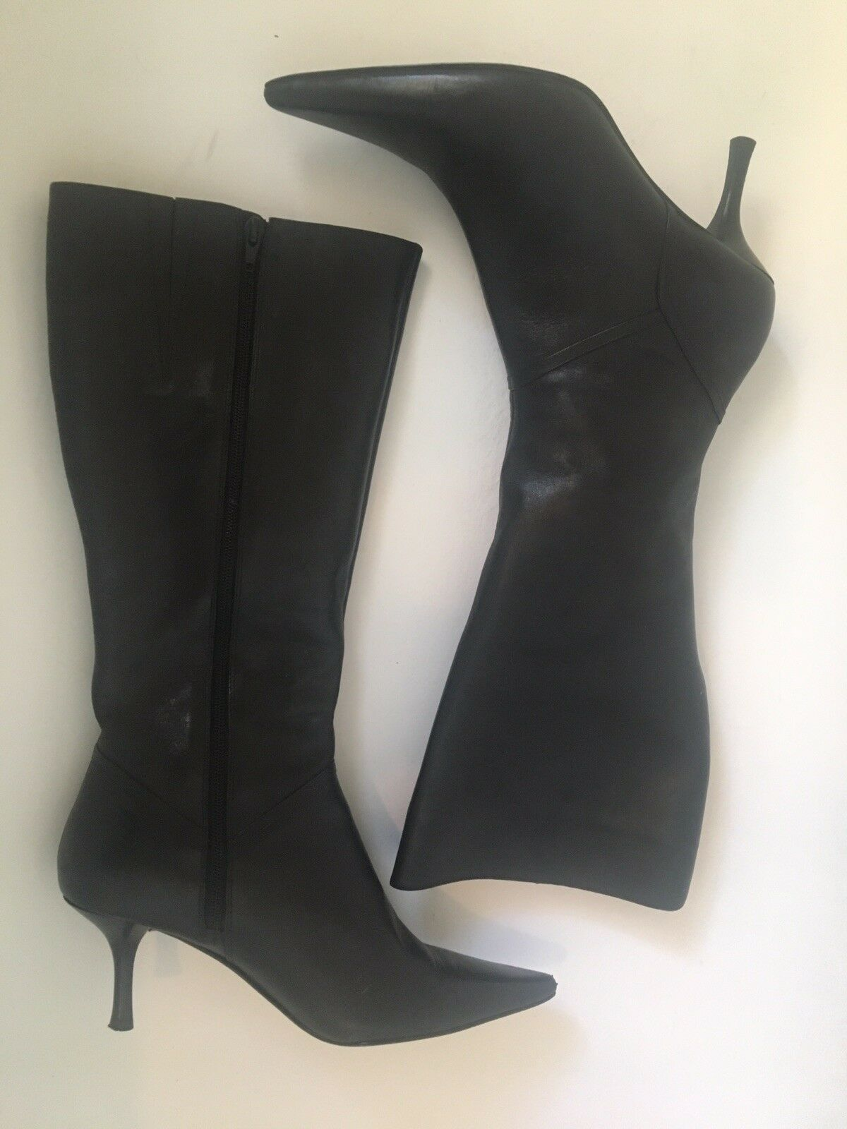 Nine West Knee Black Boots Women's Size 10
