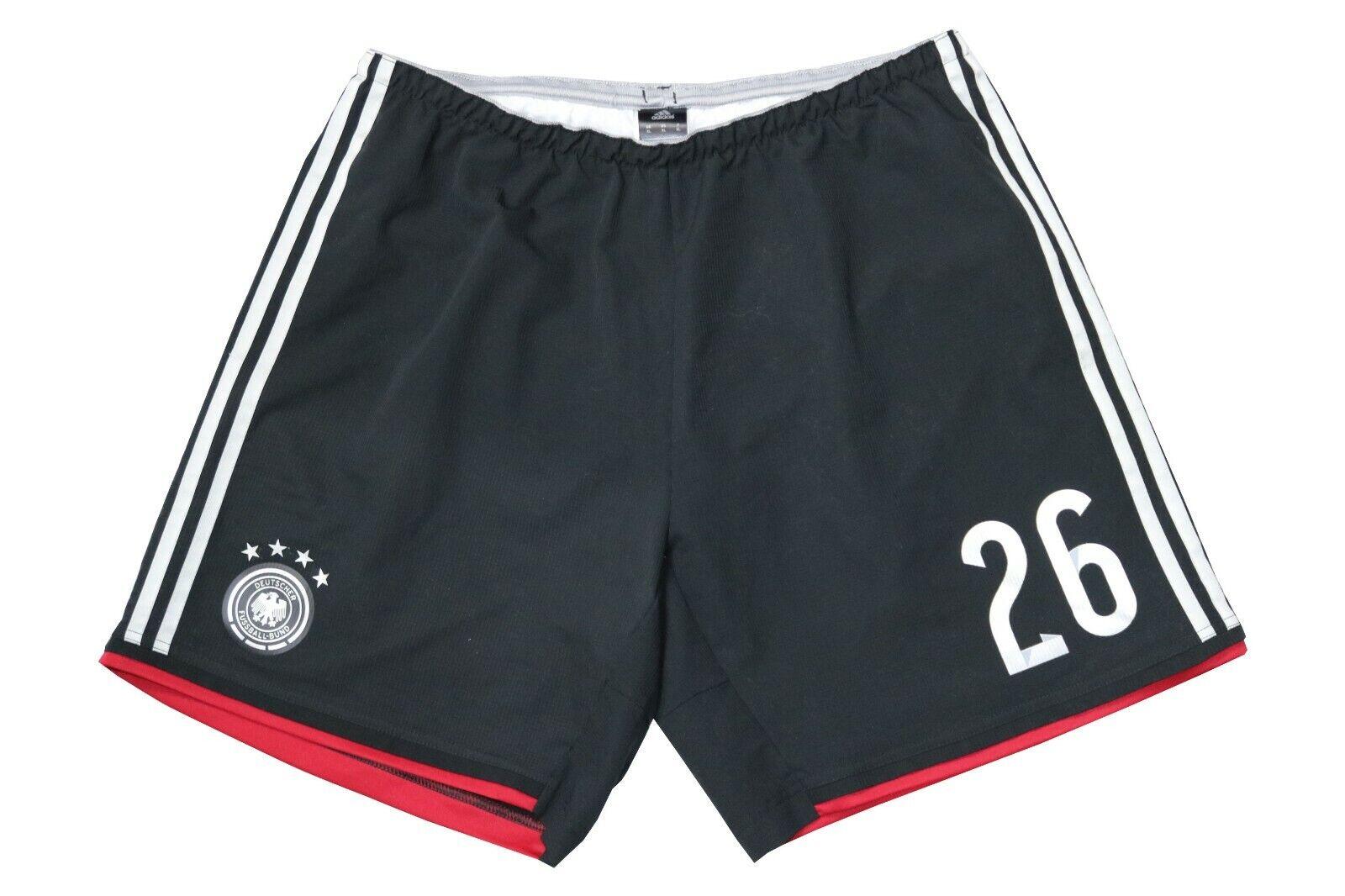 Adidas DFB Deutschland Shorts Sporthose Hose Gr. XL 2014 WM black 4 Sterne