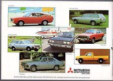 Mitsubishi Colt Lancer Celeste Sigma Sapporo 1978-79 UK Market Sales Brochure