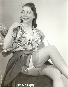 Org Vintage 1940s-60s Semi Nude (8 x 10) Pinup RP- Detroit