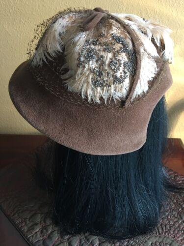 French Room Stick, Baer & Fuller Vintage Hat Brown