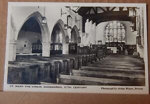 Postcard-St-mary-the-Virgin-Goosnargh-Lancashire-Real-Photo-unposted