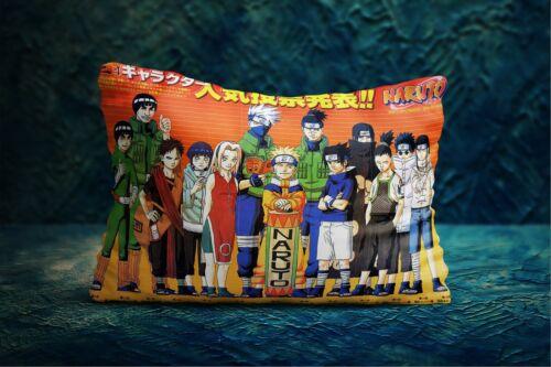 New Rare Funny NARUTO AND FRIENDS Sasuke Kakashi Anime Manga3 Pillow Case