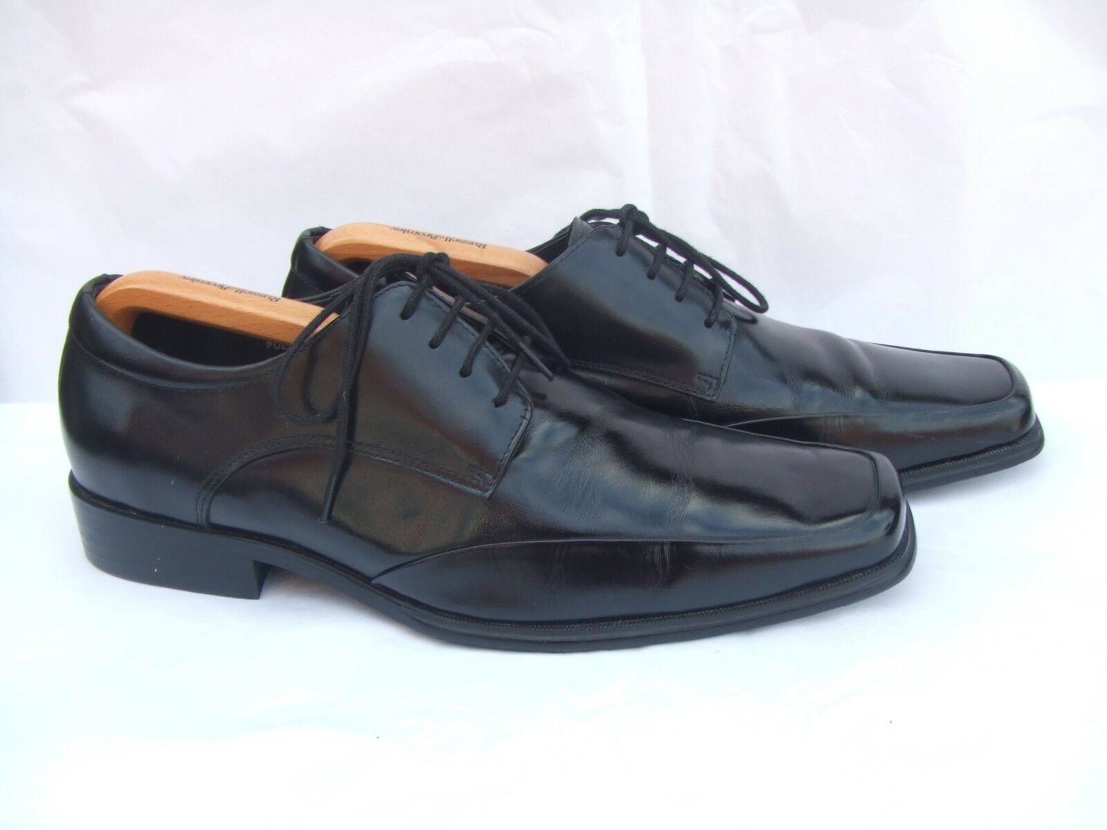 STACY ADAMS  PULSAR  BLACK LEATHER LACE UP SHOES SIZE  EU 41   UK 7 EE