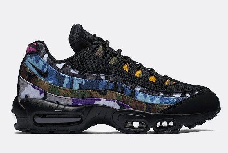 Nike air max 95 uomini erdl scarpe eleganti nero / multi - colore ar4473-001 c