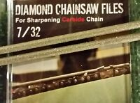 7/32 Diamond Chainsaw File 7/32 For Carbide Chain 2 Pack For Full 3/8 Chain