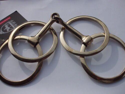 Fahrgebisse & -kandaren Doppelringtrense einfach gebrochen Größe 12,5  aus Argentan von Pfiff