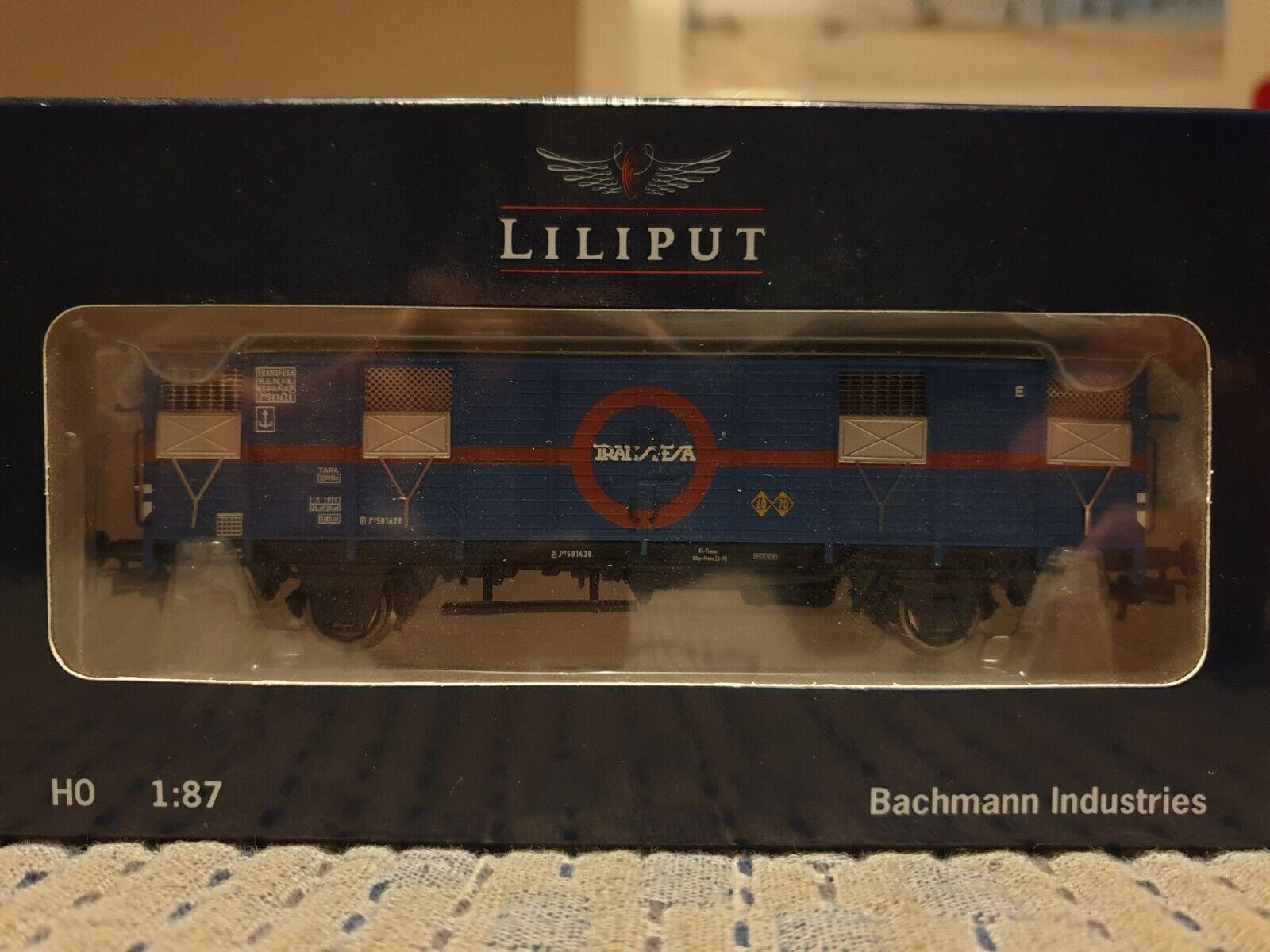 Liliput Spur H0 L231009 Fähravviowagen geschlossen  Transfesa  RENFE Ep.III
