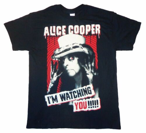 T SHIRT S-M-L-XL-2XL-3XL New Official I/'m Watching You !!! ALICE COOPER