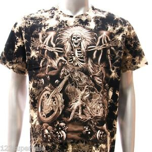 B20 survivor t shirt m l xl xxl tattoo stud skull indian for Indian motorcycle tattoo