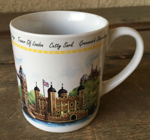 Coffee Mug London Greenwich Observatory Tower Bridge St Paul Souvenir Cathedral