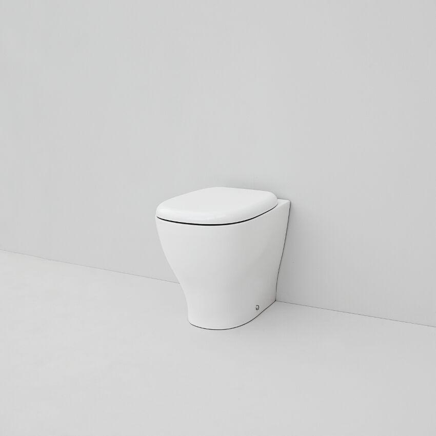 Vaso Wc Bagno Filo Muro Design Ten in ceramica blanc 36x52 cm