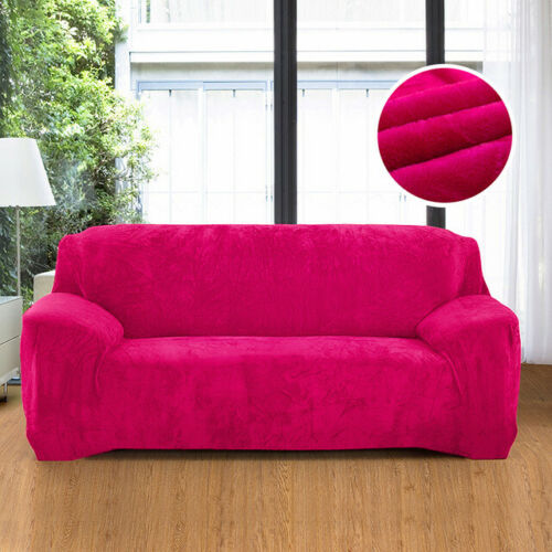 1-4 Seaters Sofa Covers Velvet Thick Plush Stretch Protector Soft Couch Cover