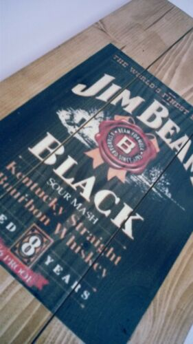 Jim Beam sign plaque  and shelf  wooden plaque gift mancave shed bar  pub