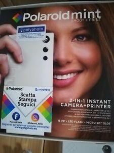 Polaroid Mint - Fotocamera + stampa istantanea Bianca più carta per stampare