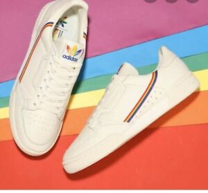 Details about NEW ADIDAS CONTINENTAL 80 PRIDE LGBT UNISEX, CASUAL SHOES 9/  9.5 MEN SIZE