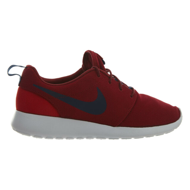 18a6183b95081 Nike Roshe One Mens 511881-609 Red Crush Midnight Navy Running Shoes Size  8.5