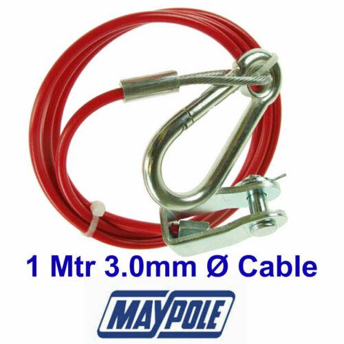 Maypole Breakaway Cable MP502 1 Mtr x 3.0mm Ø RED Trailer Caravan /& Towbar
