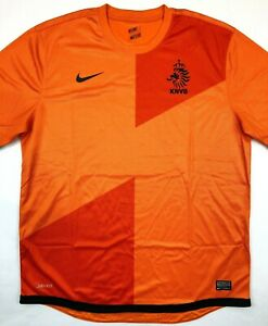 Nike NETHERLANDS 2012/13 XL Home Football Shirt Soccer Jersey KNVB Top Holland