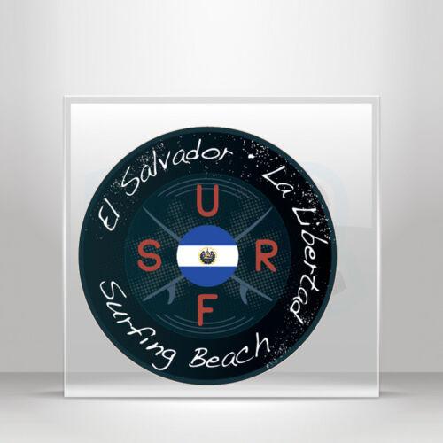 Stickers Decal travel Surf La Libertad El Salvador beach A19 3WW75