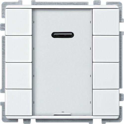blanc pol MTN628419 cde multifonct KNX brill - 8 BP avec récepteur IR