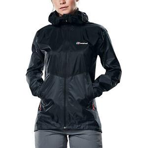 Berghaus Fast Hike Femme Mesdames imperméable veste d'extérieur manteau gris/rouge-UK 8