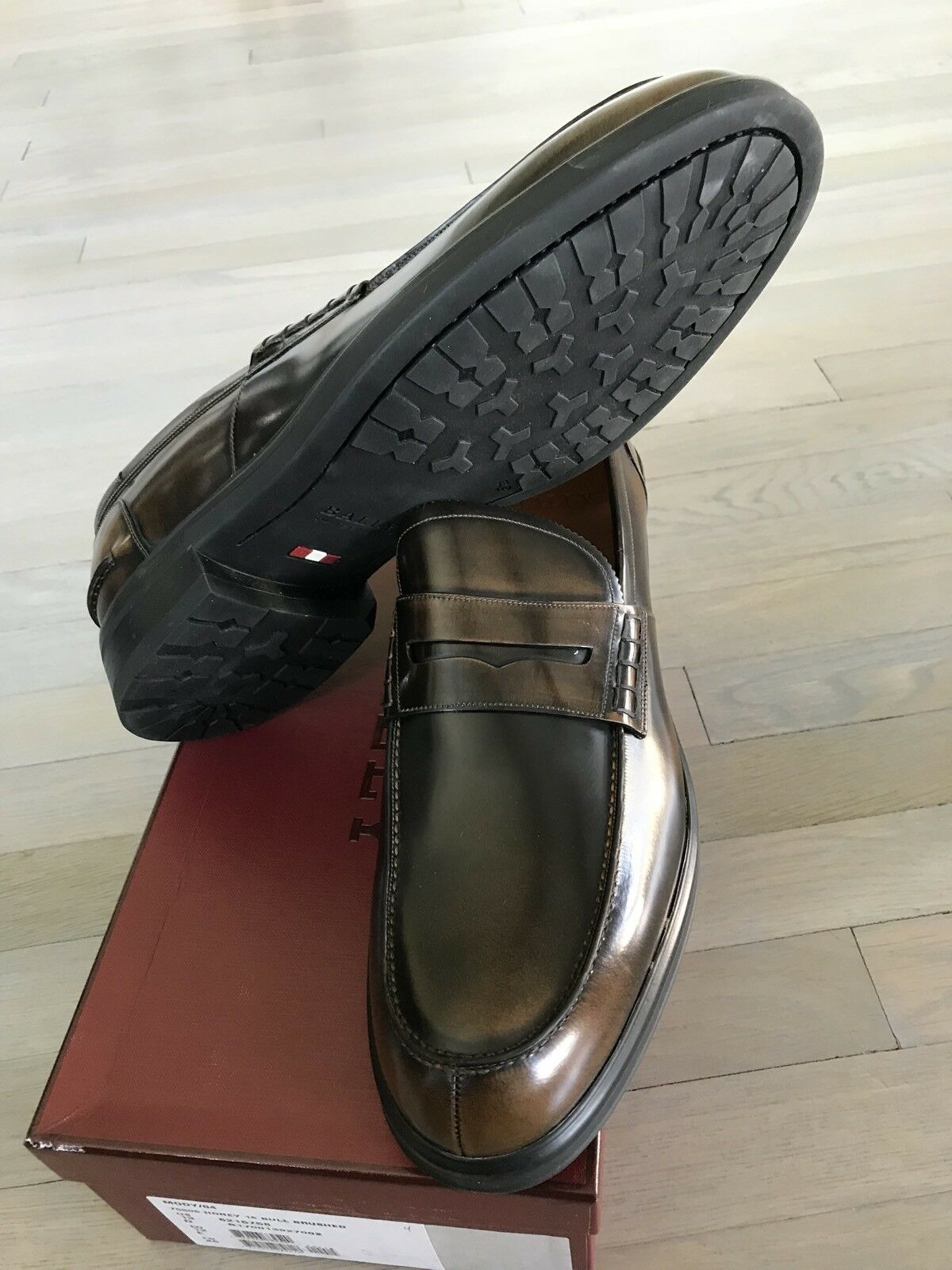 5d8da768482e ... 750  Bally Moby Honey Brushed Leather Loafers Size US 13 13 13 Made in  Switzerland ...