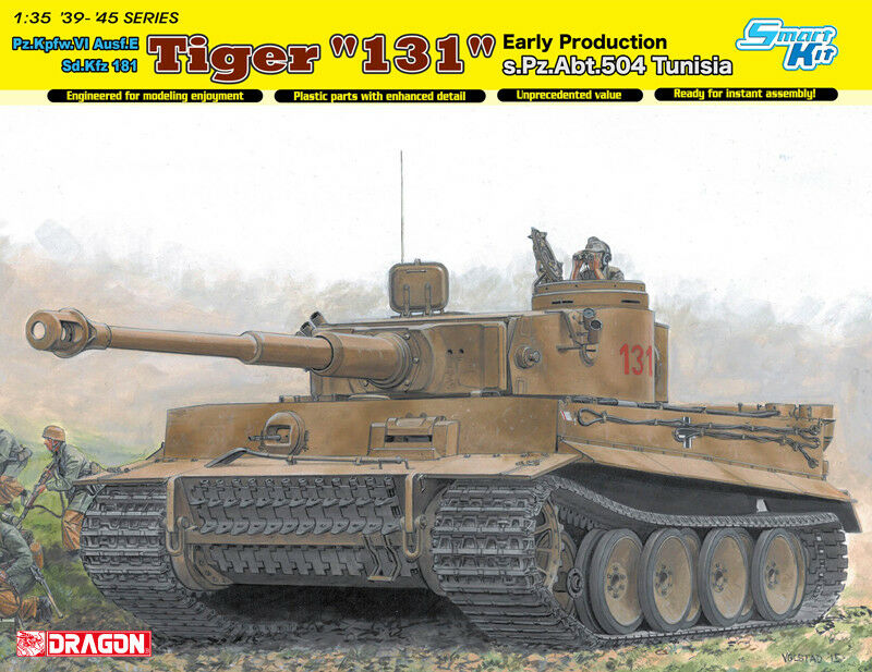 Dragon Models 1 35 PzKpfw.VI Ausf.E SdKfz.181 Tiger 131 Early sPzAbt.504 Tunisia