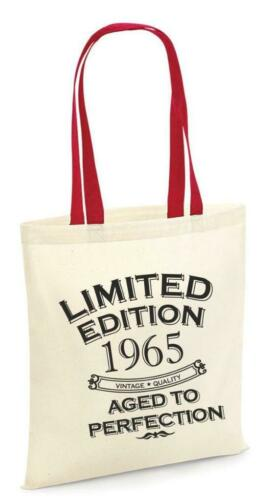 56th Party Cotton Tote Bag Birthday Presents Gifts Year 1965 Shopper Shopping