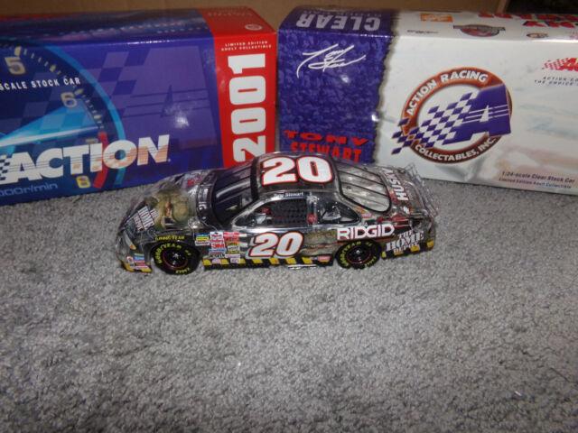 1/24 TONY STEWART #20 HOME DEPOT / JURASSIC PARK III CLEAR 2001 ACTION NASCAR