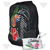 Billabong Black Womens Girls Backpack Rucksack School Bag + FREE Stationary Set