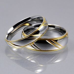 Image Is Loading Mens Women Silver Gold Stainless Steel 4mm 6mm