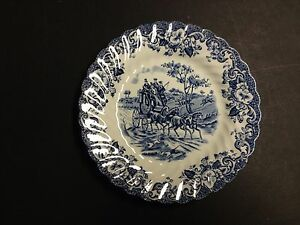 Johnson-Bros-Ironstone-Coaching-Scenes-Blue-Hunting-Country-6-1-4-034-BREAD-PLATE