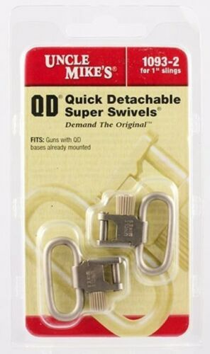 """Uncle Mike/'s QD 1/"""" NICKEL Super Swivels FOR Guns with QD Bases installed 300ALG"""
