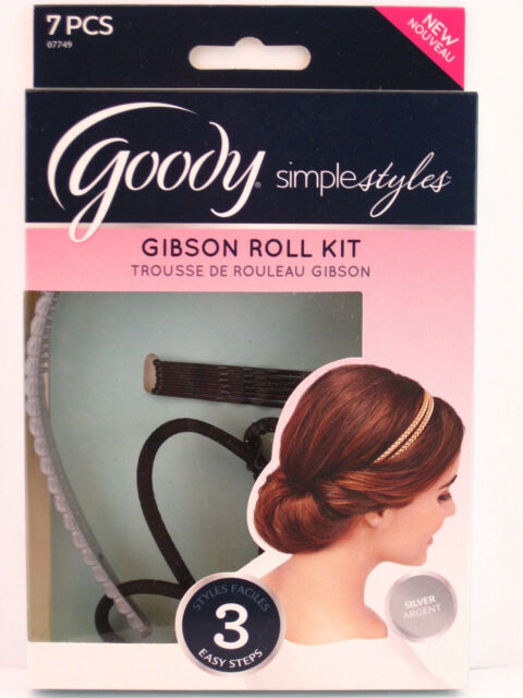 GOODY SIMPLE STYLES GIBSON ROLL KIT - SILVER - 7 PCS.  (07749)