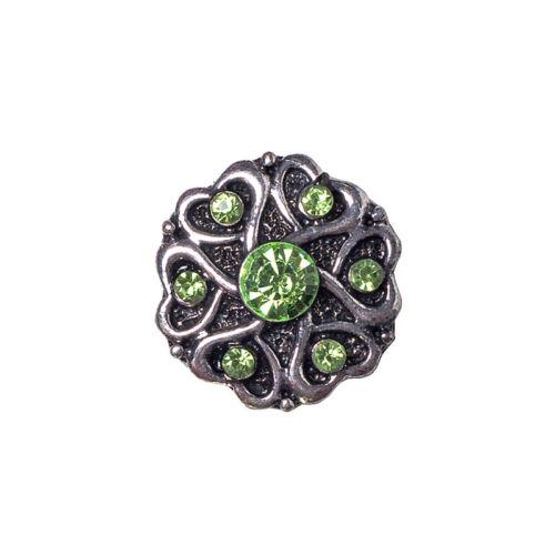 Wholesale Lots Vintage Sliver Alloy Flower Rhinestone Snaps Fit 18mm Buttons BT