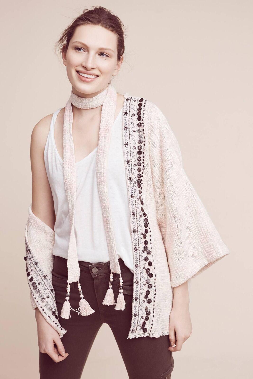 Anthropologie Livia Livia Livia Textured kimono By Beautiful Stories one size NEW MSRP   148 7cb856