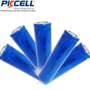 5x ICR 18650 3.7V Vape Mod Li-ion Rechargeable Battery 2200mAH Flat top PKCELL