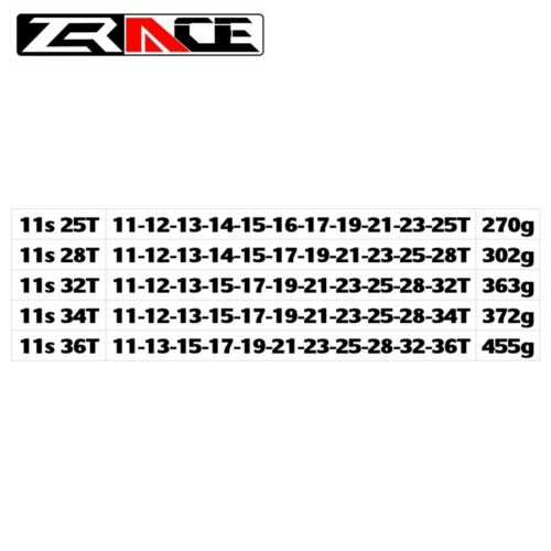 MTB bike Cassette  11-25T 28T 32T 34T 36T ZRACE Bike Cassette 11 Speed Road