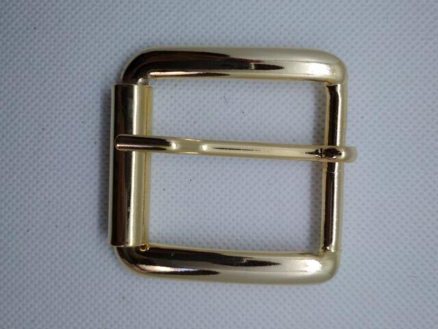 Metal Hebilla Rodillo PARA 40mm Correas/Cinturón dorado cuero manualidades