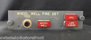 747 Wheel Well Fire Detection Panel As-Removed from Boeing 747;P/N-69B460<wbr/>00-10