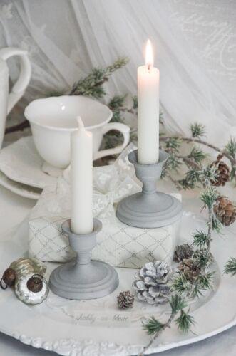 Kerzenleuchter Leuchter Kerzenhalter Standleuchter 2er Set Shabby Chic Landhaus