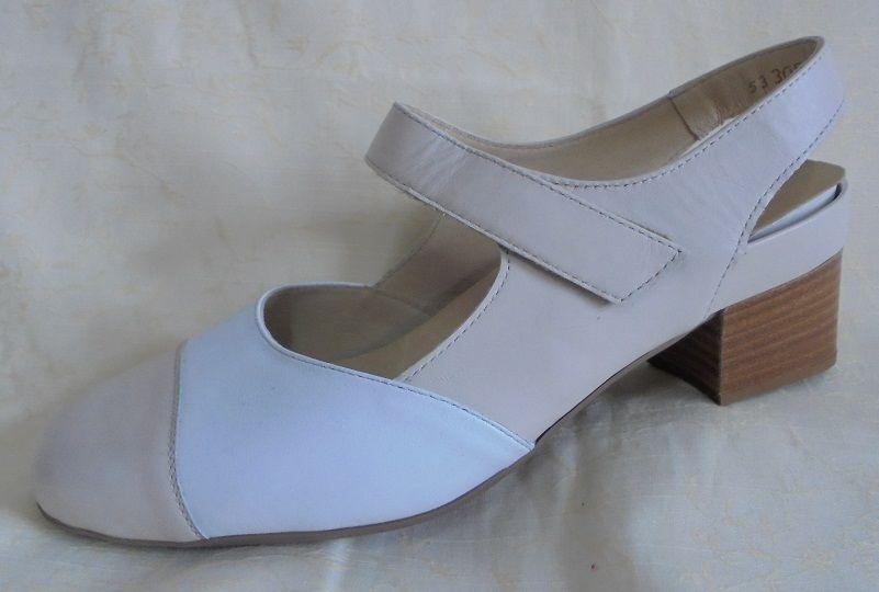 Rebecca de Lengfeld Zapatos Zapatos señora pumps Sling cuero (41) ancho K